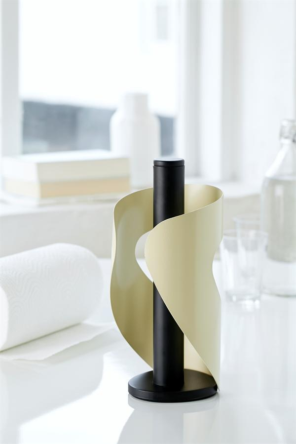 Pisa papertowelholder in black