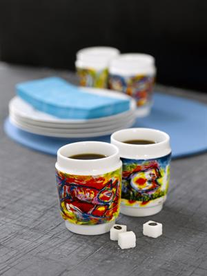 Mugs with art - Happy Dogs